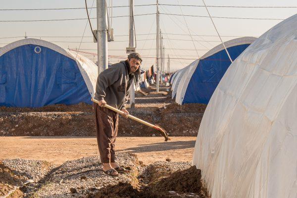 Flygtninglejren klargøres