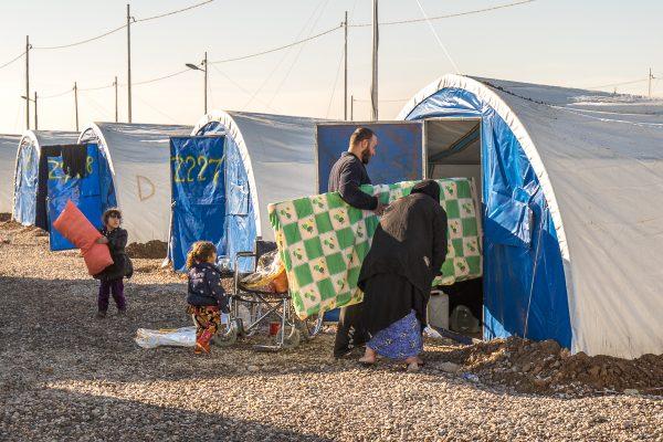 Indflytning i flygtninglejer