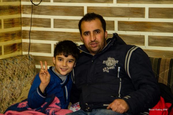 Mohammed og hans far - syrisk flygtninge