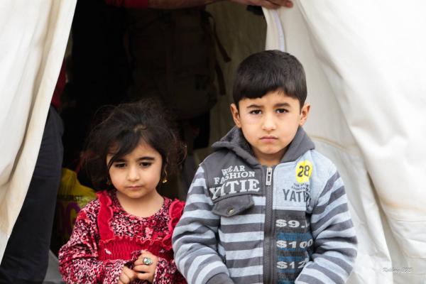 Yazidi børn fra Shingal