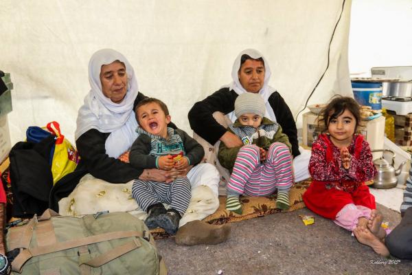 Yazidi familien i flygtninglejeren
