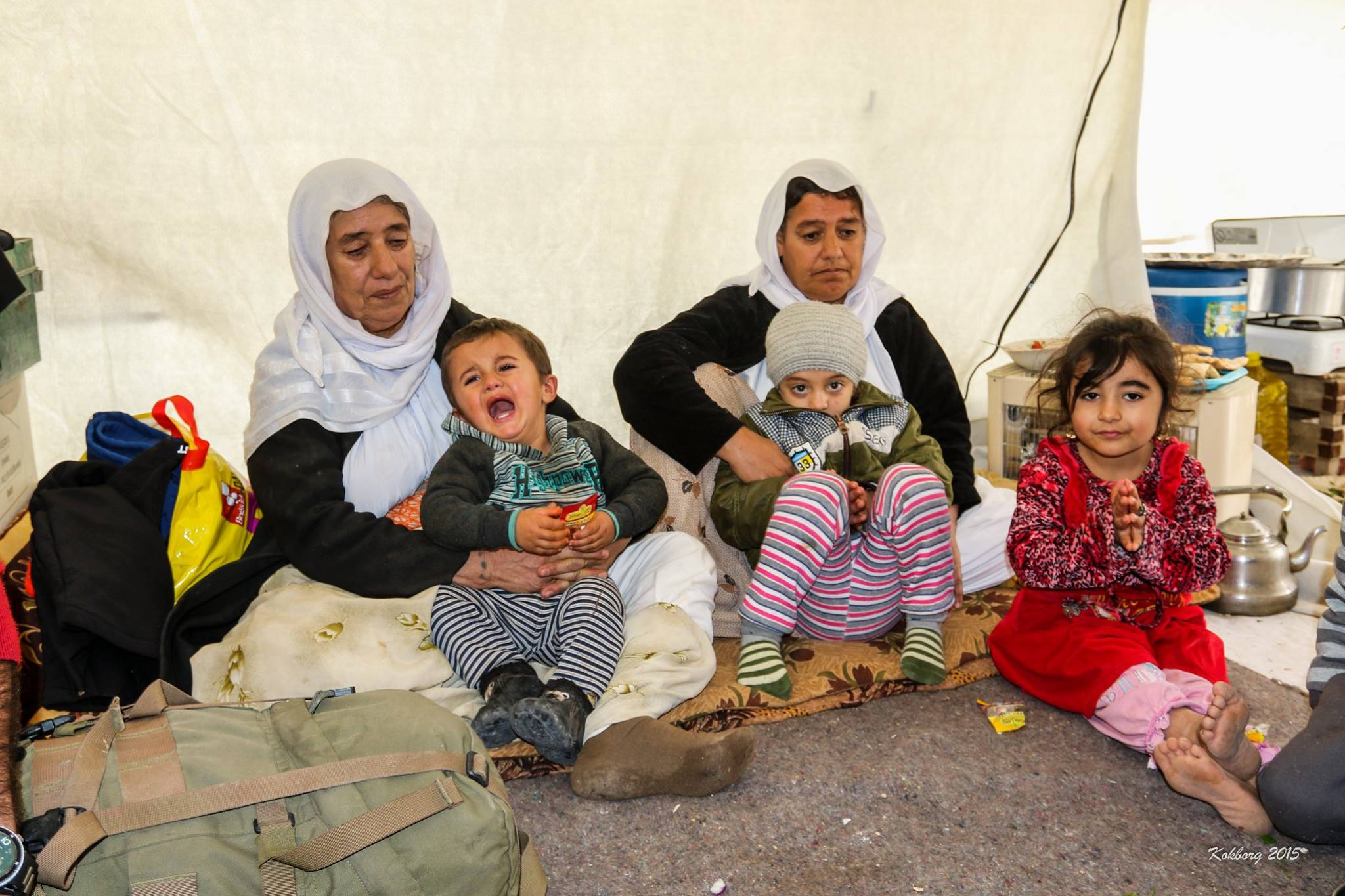 Yazidi familien fra Shingal, Nordirak