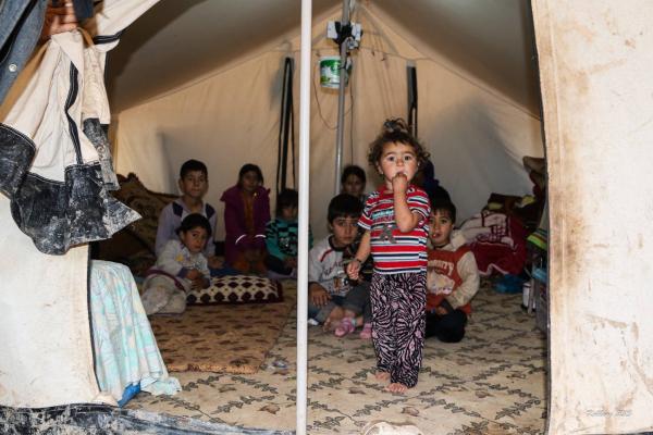 Flygtningtelt i Dohuk