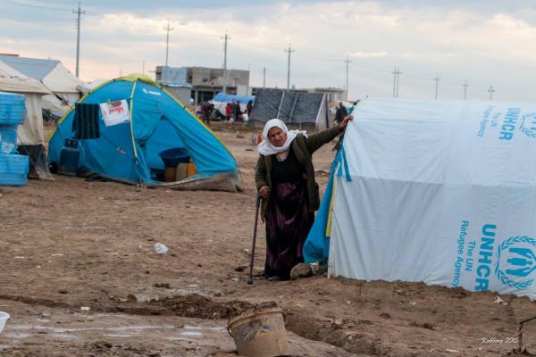 Gammel yazidi kvinde