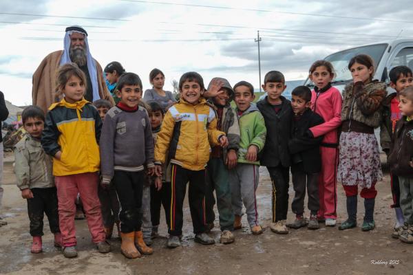 Yazidi far med sine børn