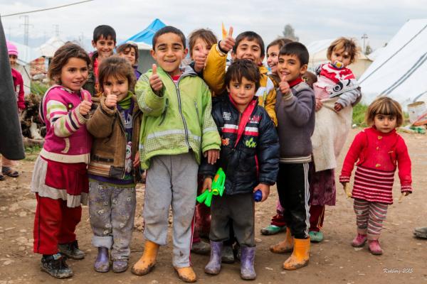 Yazidi flygtningbørn i Dohuk