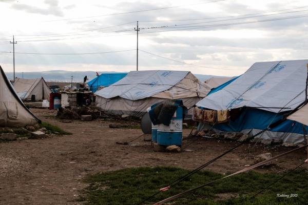 Primitiv lejr i Dohuk